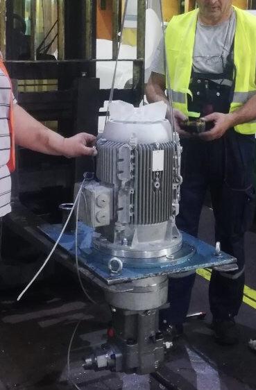 Ugradnja aksijalna pumpe sa električnim motorom